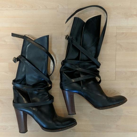 7348ff46bb2 Yves Saint Laurent Shoes | Ysl High Heal Black Leather Boots | Poshmark